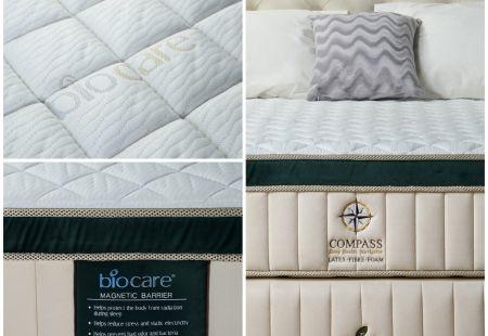 """Дизайнерская кровать с матрасом из 100% натурального латекса коллекция """"Compass 100"""""""